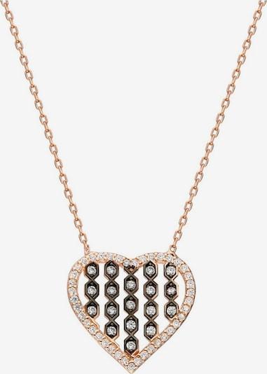 Dkeniz Silberkette 'Herz' in rosegold, Produktansicht
