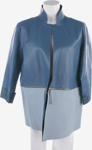 Ermanno Scervino Lederjacke / Ledermantel in L in Blau