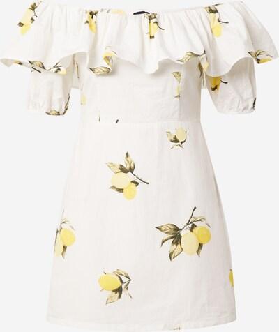 Tally Weijl Sommarklänning 'COBORA' i gul / grön / off-white, Produktvy
