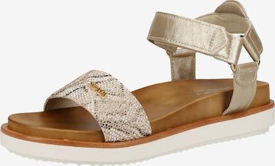SCAPA Sandalen in braun / gold / grau, Produktansicht