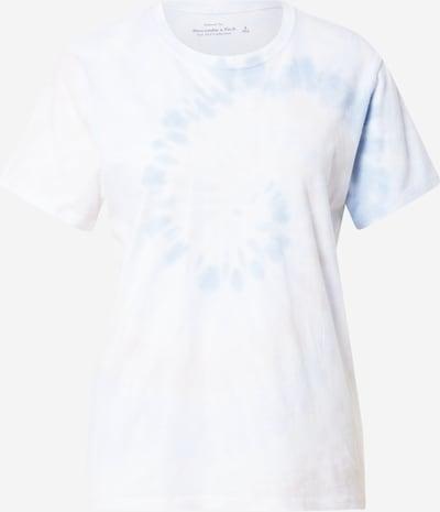 Abercrombie & Fitch T-shirt en azur / blanc, Vue avec produit