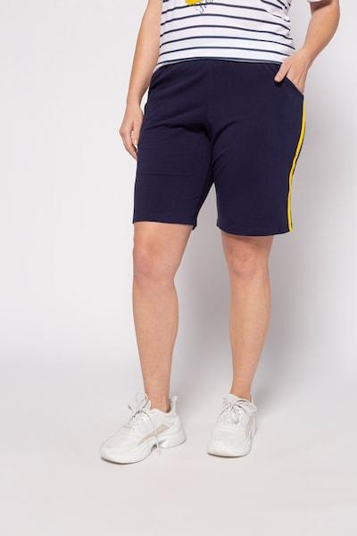 Ulla Popken Shorts in marine / gelb, Modelansicht