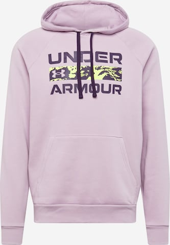 UNDER ARMOUR Sportsweatshirt 'RIVAL' i rosa