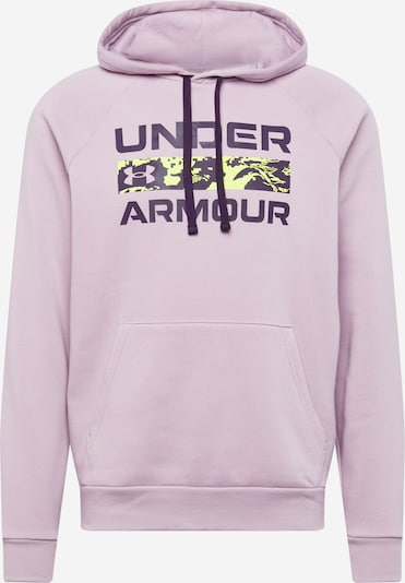 UNDER ARMOUR Sweat de sport 'RIVAL' en vert fluo / violet foncé / rose clair, Vue avec produit