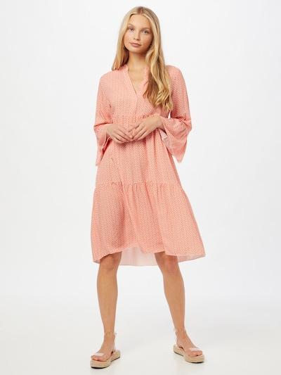 ZABAIONE Blousejurk 'Anna' in de kleur Perzik / Wit, Modelweergave