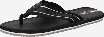 TOMMY HILFIGER Sandalias de dedo en negro / blanco, Vista del producto