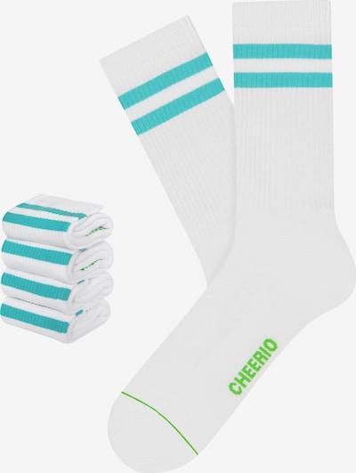 CHEERIO* Socks 'TENNIS TYPE 4P' in Blue / White, Item view