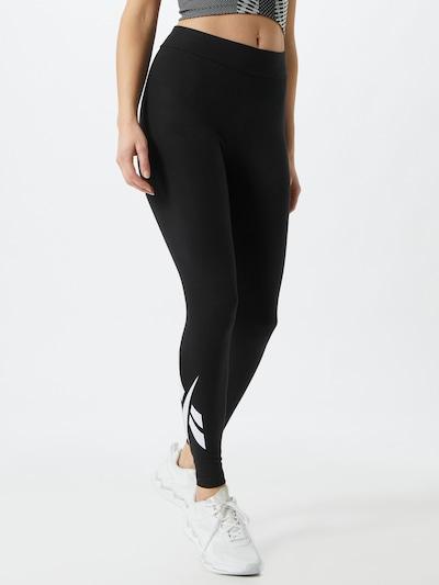 Reebok Classic Leggings 'Vector' in schwarz / weiß, Modelansicht