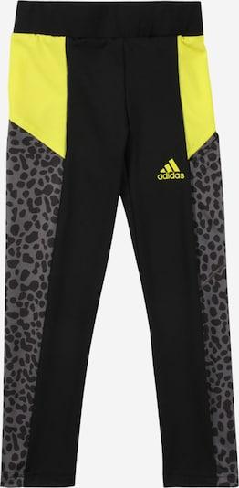 ADIDAS PERFORMANCE Sporthose in neongelb / grau / schwarz, Produktansicht