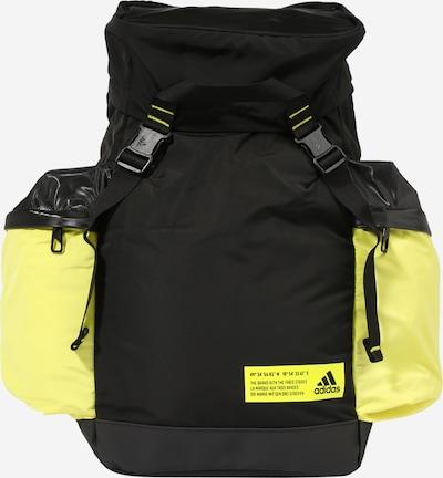 ADIDAS PERFORMANCE Sac à dos de sport en jaune fluo / noir, Vue avec produit
