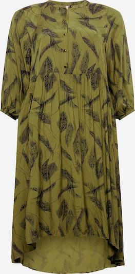 KAFFE CURVE Kleid 'Darla' in grün / oliv / schwarz, Produktansicht
