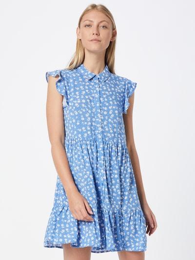 Rochie tip bluză 'Elisa' Hailys pe bleumarin / albastru deschis / alb, Vizualizare model