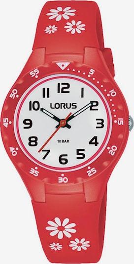 LORUS Uhr in rot / weiß, Produktansicht