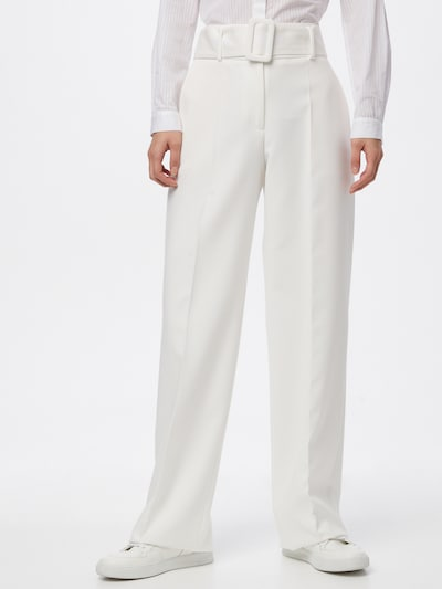 HUGO Панталон с ръб 'Hulea' в лазурно синьо / бяло, Преглед на модела