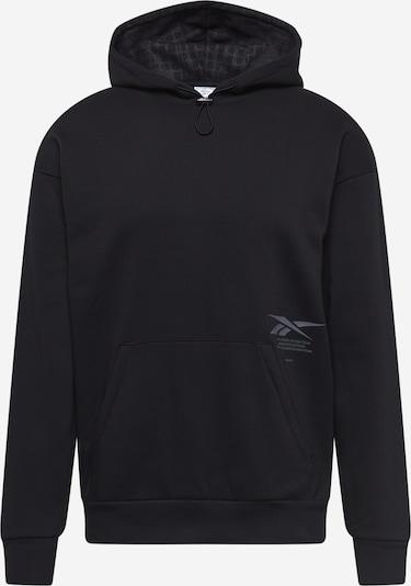 Reebok Sport Sportsweatshirt in grau / schwarz, Produktansicht