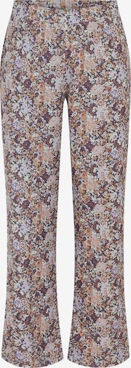 PIECES Trousers 'Leaste' in Beige / Cognac / Light purple / Dark purple / Mixed colours, Item view