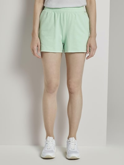 TOM TAILOR DENIM Vintage Sweatshorts mit Print in mint, Modelansicht