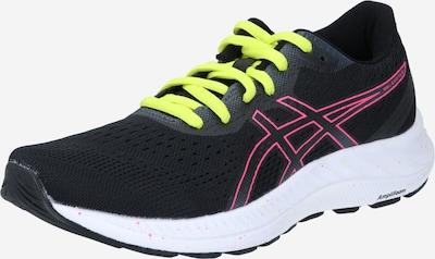 ASICS Chaussure de course en vert fluo / rose / noir, Vue avec produit