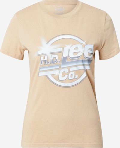 Lee T-shirt i cappuccino / grå / vit, Produktvy