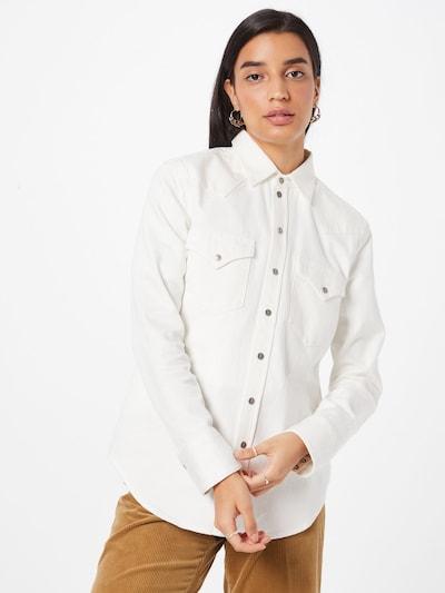 DIESEL Blouse 'RINGY' in de kleur Wit, Modelweergave