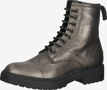 LAZAMANI Lace-Up Ankle Boots in Bronze