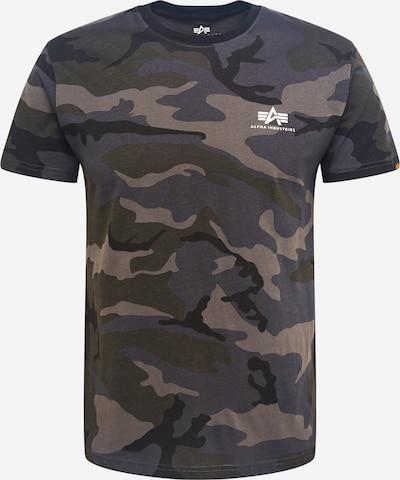 ALPHA INDUSTRIES Shirt in dunkelgrau / khaki / schwarz / weiß, Produktansicht