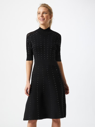 PATRIZIA PEPE Šaty 'ABITO' - černá / stříbrná, Model/ka