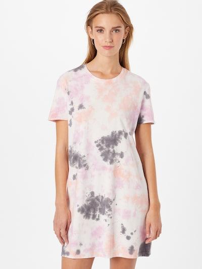 JDY Kleid in dunkelgrau / lila / orange / weiß, Modelansicht