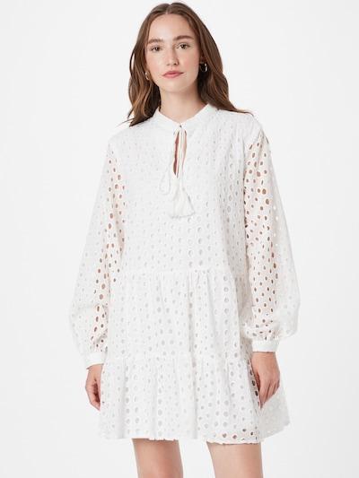 Missguided Košeľové šaty 'Jamie' - šedobiela, Model/-ka