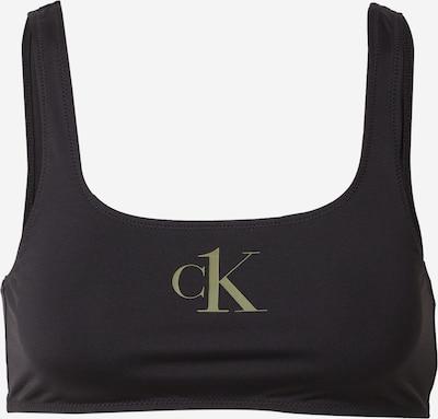Calvin Klein Swimwear Bikini gornji dio u zelena / crna, Pregled proizvoda