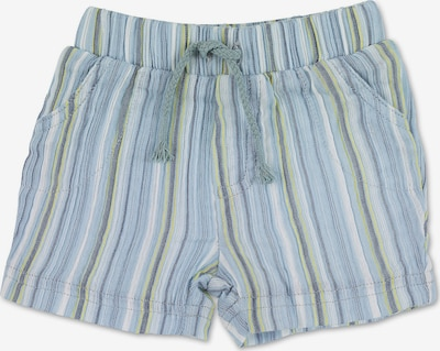 STERNTALER Pantalon en bleu marine / bleu-gris / bleu clair / jaune, Vue avec produit