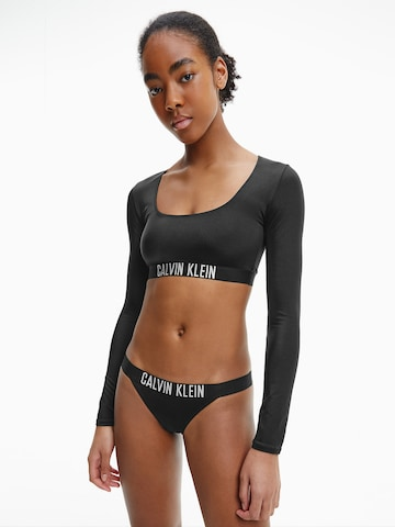 Calvin Klein Swimwear Sportbikinitop 'Intense Power' in Schwarz
