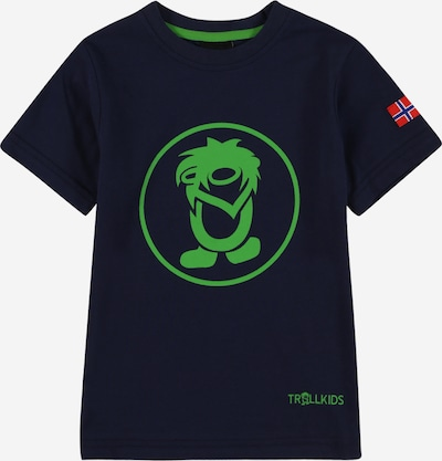 TROLLKIDS T-Shirt fonctionnel 'Troll' en bleu marine / vert / citron vert / rouge clair, Vue avec produit