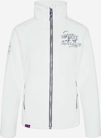 Soccx Fleece Jacket in White