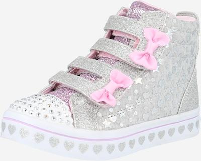 SKECHERS Sneaker in hellgrau / hellpink / silber / weiß, Produktansicht