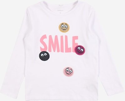 NAME IT T-Shirt 'LINETTE' en marine / jaune d'or / rose / rose / rose pastel / blanc, Vue avec produit