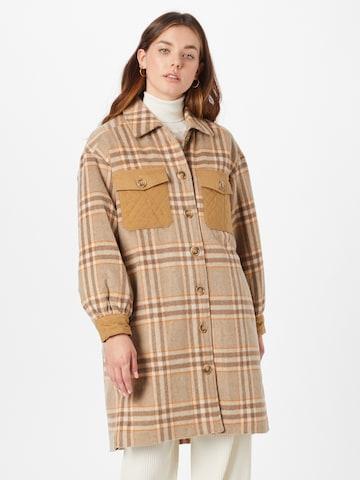 NÜMPH - Abrigo de entretiempo 'CORIN' en marrón