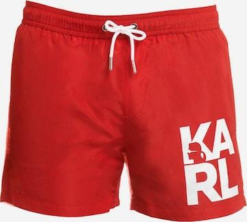 Shorts de bain ' Boardshort ' Karl Lagerfeld en rouge