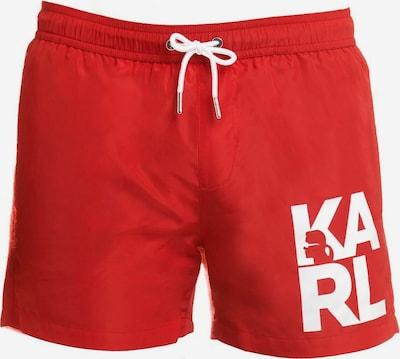 Karl Lagerfeld Badehose ' Boardshort ' in rot, Produktansicht