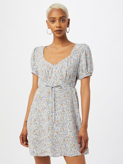 Cotton On Šaty - svetložltá / svetlofialová / marhuľová / čierna, Model/-ka