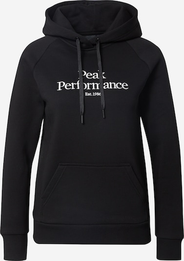PEAK PERFORMANCE Sportsweatshirt i sort / hvid, Produktvisning
