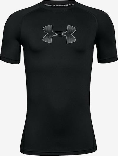 UNDER ARMOUR Functioneel shirt 'Heatgear' in de kleur Grijs / Zwart, Productweergave