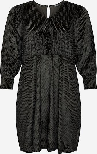 Selected Femme Curve Robe 'Ria' en vert / noir, Vue avec produit