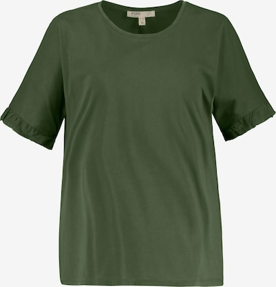 Ulla Popken Shirt in khaki: Frontalansicht