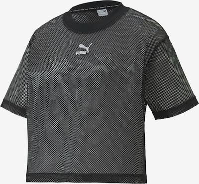 PUMA Classics Mesh Damen T-Shirt in schwarz, Produktansicht