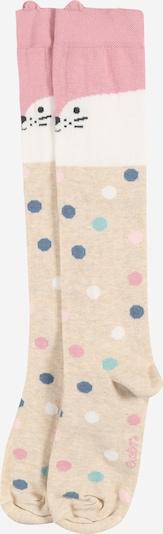 EWERS Socken 'Katze' - (GOTS) in kitt / türkis / taubenblau / rosa / naturweiß, Produktansicht