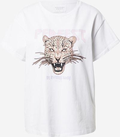 Tricou 'PAYA' SISTERS POINT pe maro deschis / roz pastel / negru / alb murdar, Vizualizare produs