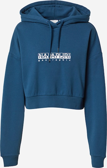Bluză de molton NAPAPIJRI pe albastru marin / alb, Vizualizare produs