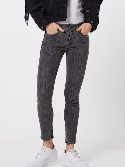 REPLAY Jeans 'New Luz Hose' in de kleur Grey denim, Modelweergave