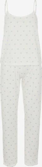 PIECES Pijama 'Amira' en azul claro / blanco, Vista del producto